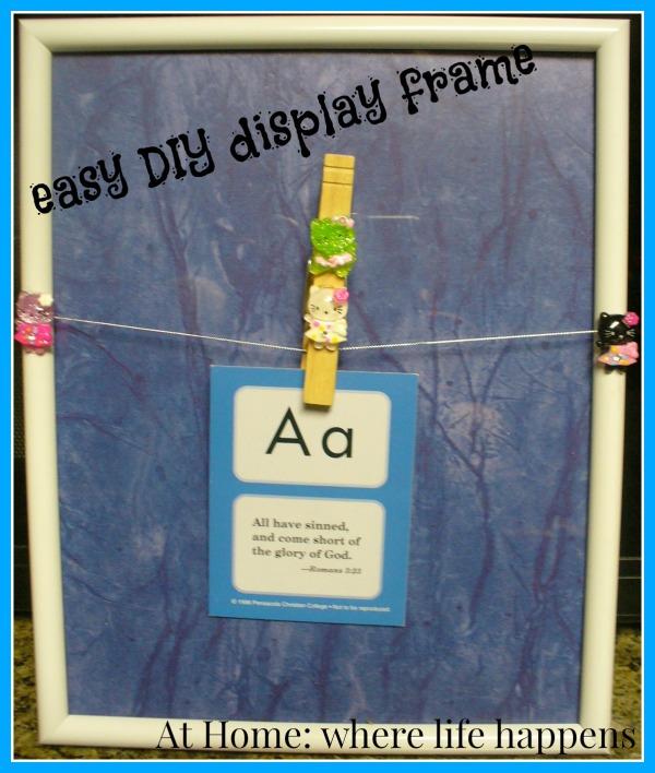 easy DIY display frame