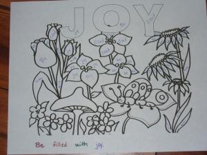Joy color by word