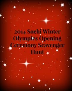 Scavenger Hunt Title page