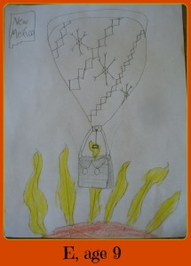 E hot air balloon framed