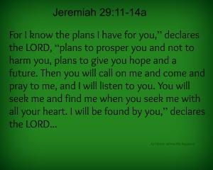 Jeremiah 2911-14a