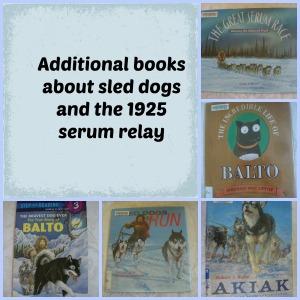 sled dog books collage