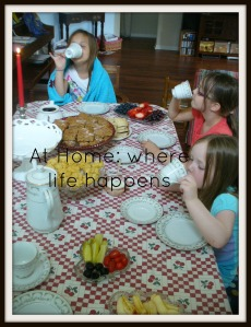 girls at tea table