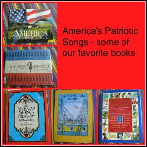patriotic song books collage