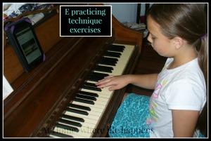 E at piano