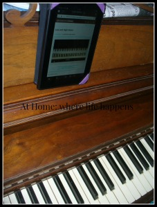 Kindle on piano