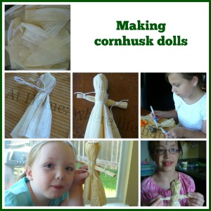 making cornhusk dolls