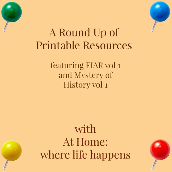 Round up of printable resources