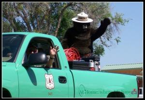 O Smokey in truck