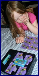 J working on cards