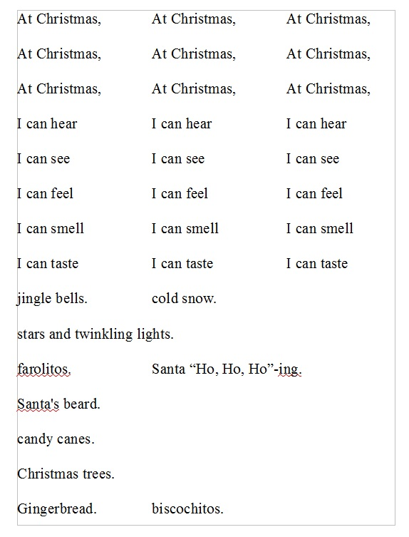 H Christmas book words