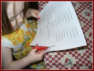 H cutting words