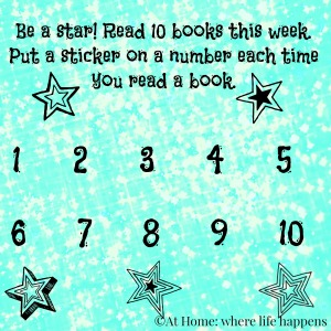 Be a Star Reading chart by At Home: where life happens