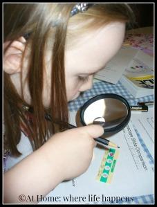 M magnifying lense