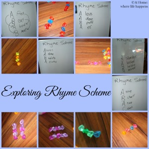 exploring rhyme scheme