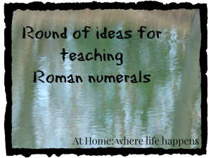 Roman numerals teaching
