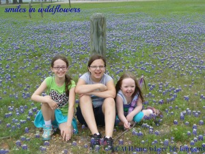 W smiles in wildflowers