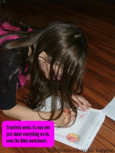 color on the worksheets