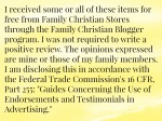 Family Christian disclosure