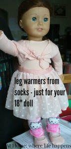 socks to leg warmers on doll