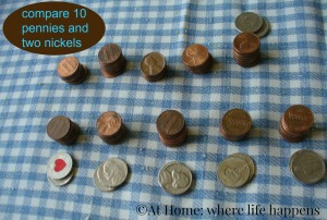 counting pennies and nickels