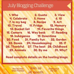 July Blogging Challenge