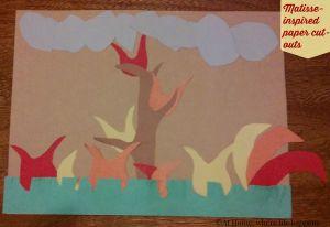 E's paper cut-out