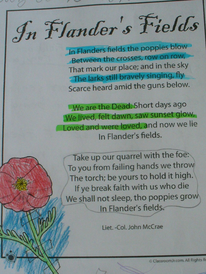 an analysis of the topic of the flanders fields Inspiration for in flanders fields related topics graham's thoughts turned to images of poppies growing among the graves as portrayed in the in flanders fields poem the images of poppies on the old flanders battlefields and the umbrellas on a wet november day in ypres were.