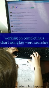 completing a chart