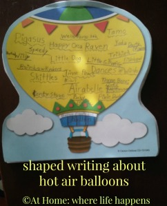 creative writing hot air balloons