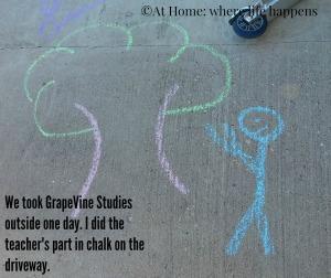 outside teacher drawing