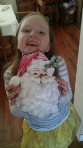 Making a Santa just like my sisters have.