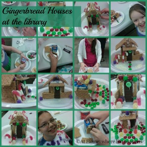 library gingerbread houses