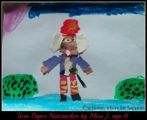 torn paper nutcracker by Miss J