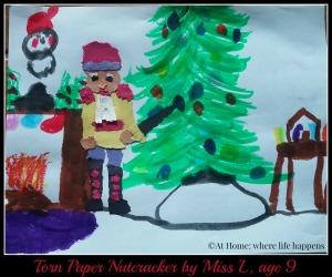 torn paper nutcracker by Miss L