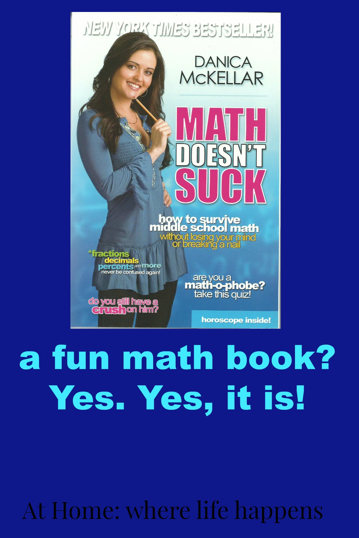 A Book Review for Math | At Home