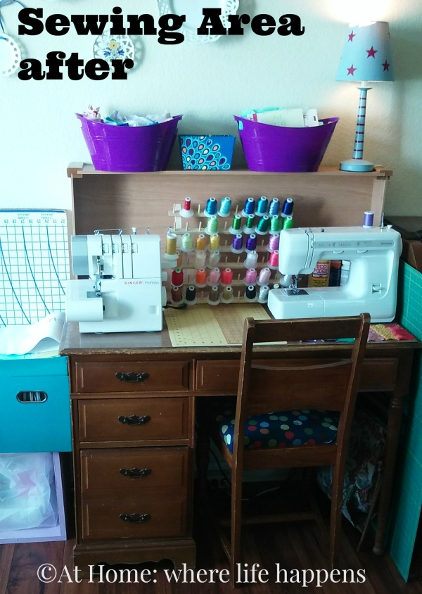 Sewing Area after