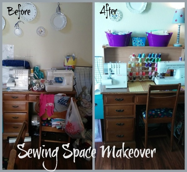 Sewing Space before and after
