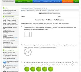 multiplying fractions worksheet sample