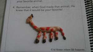 Miss J's giraffe