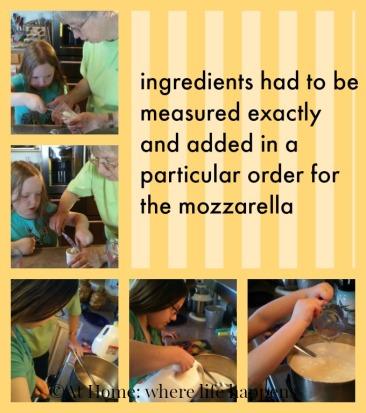 mozzarella measuring ingredients