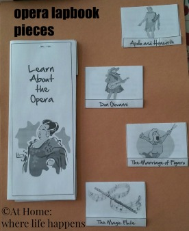 opera lapbook pieces