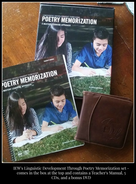 Poetry memorization set