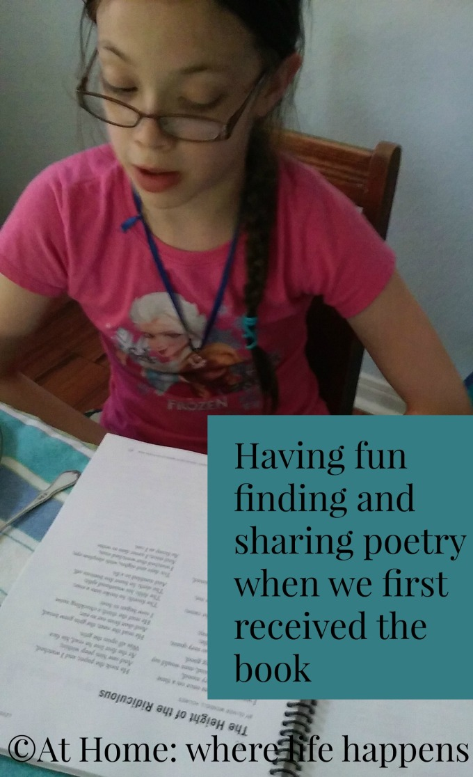 sharing poetry when we first got the book