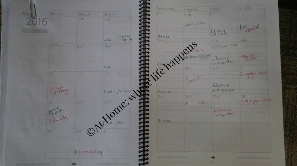our monthly planning page