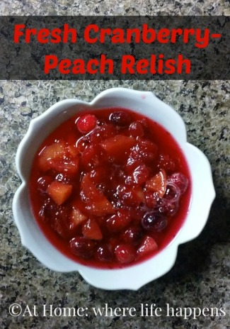 Cranberry peach relish