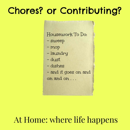 chores or contributing