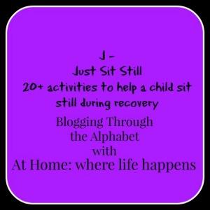 J just sit still