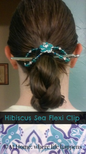 braid held with Hibiscus Sea flexi clip