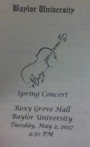 R Recital program for string project